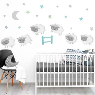 Ovelles nadó - Combinació mint - Vinils infantils