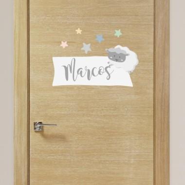 Ovelletes - Nom per a portes Vinils per portes amb nom Vinils infantils personalitzables amb un o dos noms. Perfectes per decorar les portes de les habitacions. Aquest model es pot adquirir en tres colors diferents.Mida del vinil (ample x alt)Làmina 1 nom: 30,5 x 21 cmLàmina 2 noms: 30,5 x 27 cm vinilos infantiles y bebé Starstick