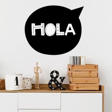 Hola - Vinilos decorativos de pared Vinilos textos y frases Vinilo decorativo de pared con la palabra HOLA. Vinilos de gran calidad y diseño. Se pueden adquirir en distintos tamaños y colores. Medidas aproximadas del vinilo montado (ancho x alto) Básico: 19x16 cm Pequeño: 30x25 cm Mediano: 40x33 cm Grande: 55x45 cm vinilos infantiles y bebé Starstick
