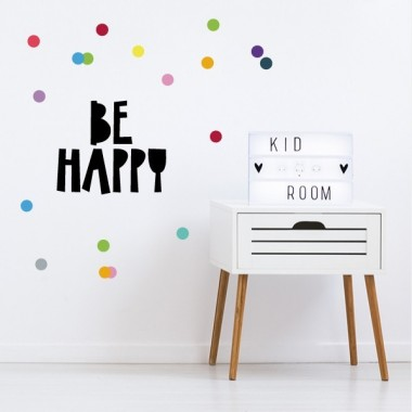 Be happy - Vinilos decorativos de pared