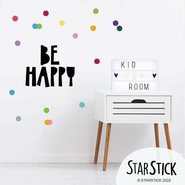 Be happy - Vinils decoratius de paret