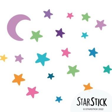 Bruixa voladora. Colors - Vinils infantils originals Vinils infantils nenes Decora les teves parets amb els fantàstics vinils infantils de StarStick. El pack inclou una bruixa, una lluna i estrelles de colors. Un original vinil per decorar habitacions infantils, escoles... Mides aproximades del vinil enganxat (ample x alt)  Bàsic: 75x40 cm Petit: 110x60 cm Mitjà:160x75 cm Gran:200x100 cm Gegant:275x140 cm  AFEGEIX UN NOM AL VINIL DES DE 9,99 €  vinilos infantiles y bebé Starstick