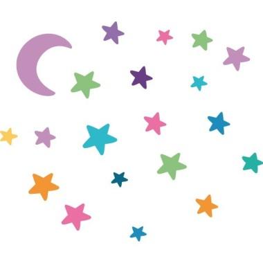 Bruja voladora. Colores - Vinilos infantiles originales Vinilos infantiles Niña Decora tus paredes con los fantásticos vinilos infantiles de StarStick. El pack incluye una bruja, una luna y estrellas de colores. Un original vinilo para decorar habitaciones infantiles, colegios... Medidas aproximadas del vinilo montado (ancho x alto) Básico: 75x40 cm Pequeño:110x60 cm Mediano:160x75 cm Grande:200x100 cm Gigante:275x140 cm AÑADE UN NOMBRE AL VINILO DESDE 9,99€    vinilos infantiles y bebé Starstick