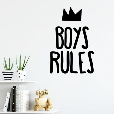 Boys Rules - Vinilos decorativos de pared