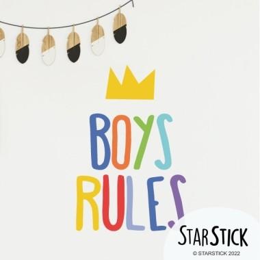 Boys Rules - Vinils decoratius cites i frases cèlebres