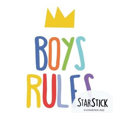 Boys Rules - Vinilos decorativos de pared Vinils infantils Nen Vinilos decorativos llenos de humor, creatividad y diseño. Pegatinas de gran calidad con las que podrás decorar habitaciones de niños y adolescentes de manera original y divertida.  Medidas aproximadas del vinilo montado (ancho x alto) Básico: 25X17 cmPequeño: 38X25 cmMediano: 60X38 cm    vinilos infantiles y bebé Starstick