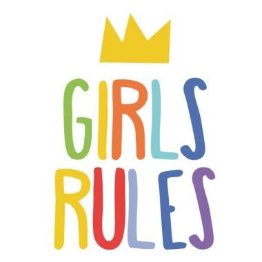 Girls Rules  - Stickers décoratifs Stickers muraux pour filles Dimensions approximatives (largeur x hauteur) Basique: 25X17 cmPetit: 38X25 cmMoyen: 60X38 cm   vinilos infantiles y bebé Starstick