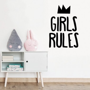 Girls Rules  - Stickers décoratifs