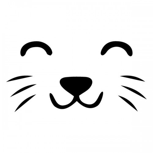 Visage de chat - Sticker muraux