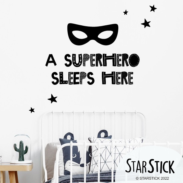 A Superhero sleeps here - Stickers décoratifs