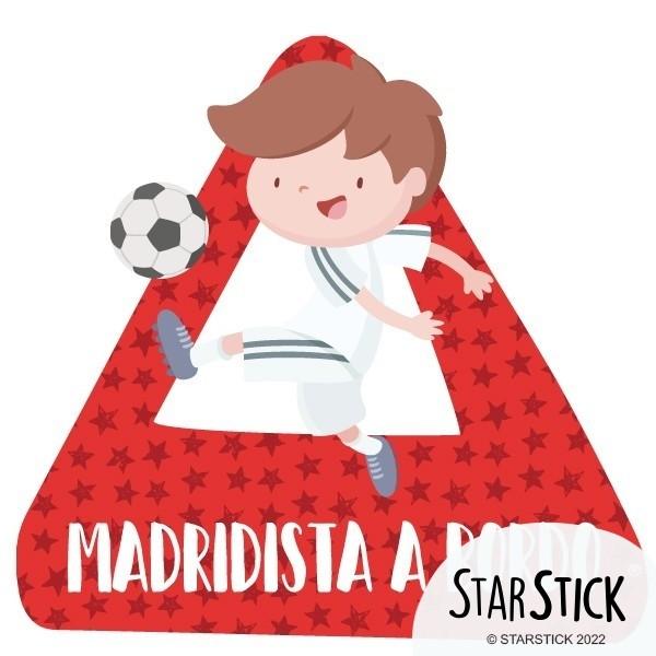 Madridista a bordo –  Adhesivo para coche