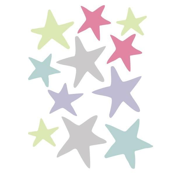 Extra Pack - Estelles tren amb animals lila Extra Packs Extrapack amb 10 estrelles d'entre 5 i 8 cm d'ample. Mida de la làmina: 20x30 cm vinilos infantiles y bebé Starstick