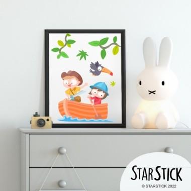 Làmina decorativa infantil - Nens exploradors