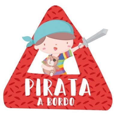 Súper niño pirata a bordo – bebé a bordo triángulo para coche