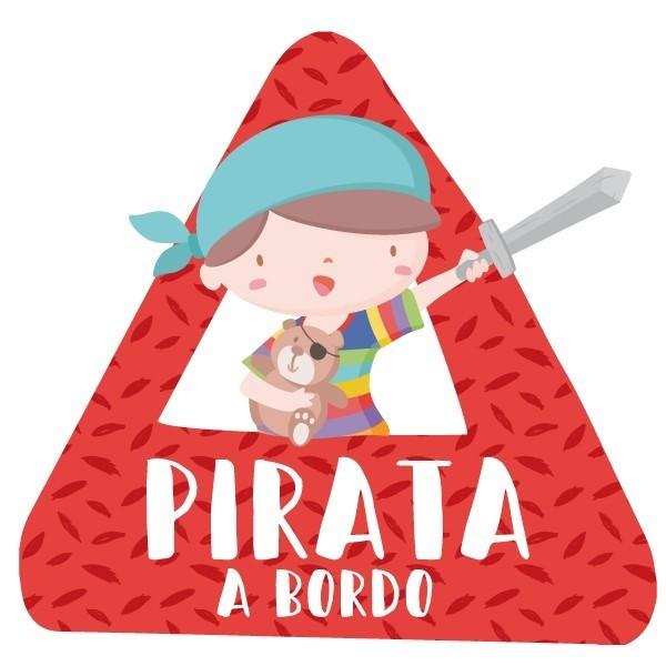 """Súper nen pirata a bord - Vinils per a cotxe Adhesius Nadó a bord  """"Súper nen pirata a bord"""". Triangles informatius de disseny, per enganxar a la part posterior dels vehicles. Adhesius de gran qualitat i fàcils de col·locar.  Mida del triangle: 16x15 cmMaterial: Vinil mat laminat vinilos infantiles y bebé Starstick"""