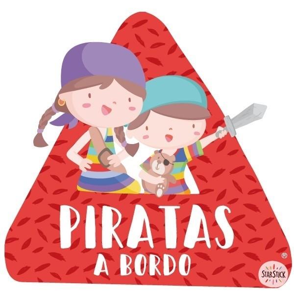 """Super pirate enfants à bord - Adhésif pour voiture Stickers bébé à bord Adhésif pour voiture """"Super pirate enfants à bord"""" Dimensions: 16x15 cm Matériau:Sticker autocollantpelliculage vinilos infantiles y bebé Starstick"""