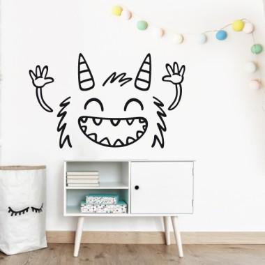El monstre graciós - Vinils infantils de paret