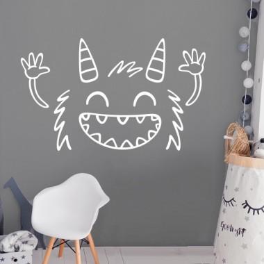 El monstruo gracioso - Vinilos infantiles de pared