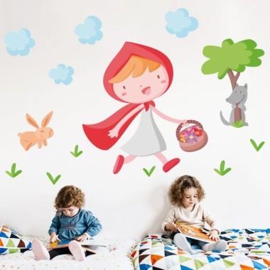 Le Petit Chaperon Rouge - Sticker enfant école