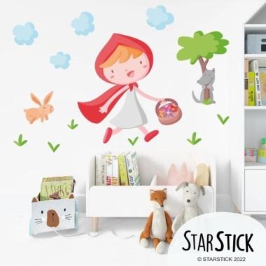 Rotkäppchen - Wandtatoo für kinder