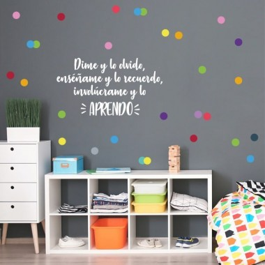 Dime y lo olvido, enséñame y lo recuerdo... - Stickers décoratifs phrases et citations