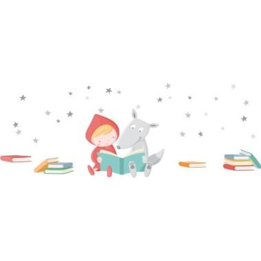Livres et étoiles - Stickers muraux enfants Vinyle éducatif / écoles  BasiquePile de 4 livres: 16X9 cm et livre 11X2 cm10 étoilesPetitPile de 4 livres: 22X12 cm et livre 16X3 cm10 étoilesMoyenPile de 4 livres: 32X14 cm et livre 23X5 cm10 étoilesGrandPile de 4 livres: 40X22 cm et livre 28X6 cm10 étoilesGéantPile de 4 livres: 53X30 cm et livre 38X8 cm10 étoiles  vinilos infantiles y bebé Starstick