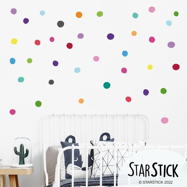 Dots irrégulier - Sticker muraux Stickers enfants Les Tailles Taille: Entre 3 et 5 cm de diamètre chacun40 confettis vinilos infantiles y bebé Starstick