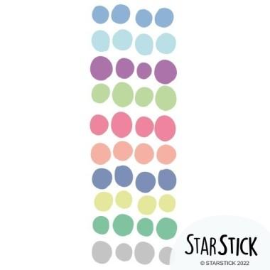 Dots irrégulier. Couleurs pastels - Sticker muraux