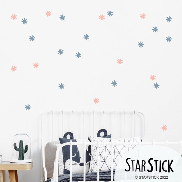 Asteriscs de colors - Vinil decoratiu. Color a escollir
