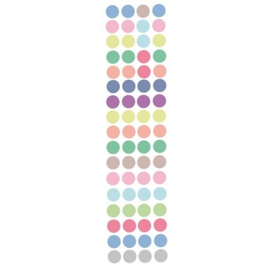 Sticker dots. Couleurs pastels - Mini confettis colorés