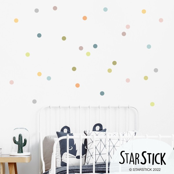 Sticker dots. Nature - Mini confettis colorés
