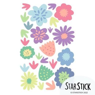 Vinyle décoratif. Fleurs lilas - Stickers muraux décoratifs Stickers muraux pour filles Mesures du vinyle  24 fleurs Taille de la feuille: 60x20 cmTaille du montage: 150x100 cmTaille des fleurs et des plantes: entre 4 et 14 cm AJOUTE UN NOM POUR LE VINYLE À PARTIR DE 9,99€   vinilos infantiles y bebé Starstick