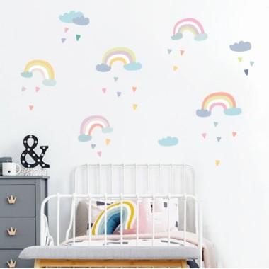 Vinilo infantil Arcoíris - niñas y bebés
