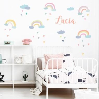 Arcoíris - Vinilos infantiles para niñas y bebés