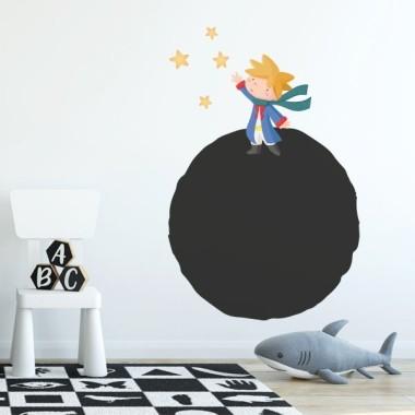 Vinilo pizarra - Planeta y pequeño príncipe