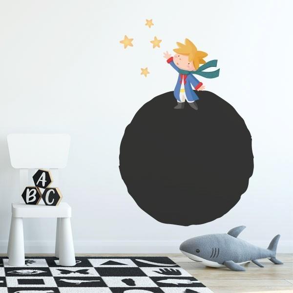 Sticker ardoise - Planète et petit prince