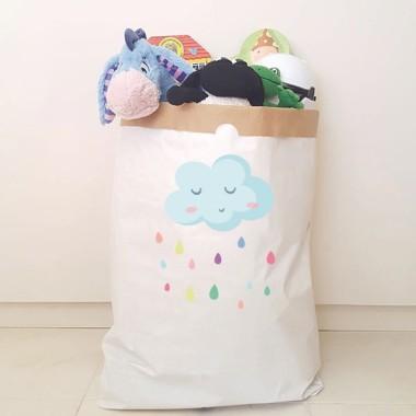 Saco organizador de papel - Lluvia de colores