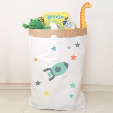Paper bag - Fusée turquoise