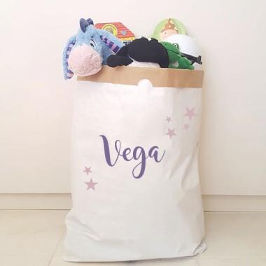 Paperbag - Nom et étoiles - Nom et étoiles