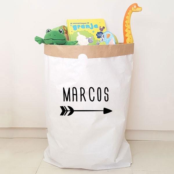 Paperbag - Nom avec flèche - Sac en papier