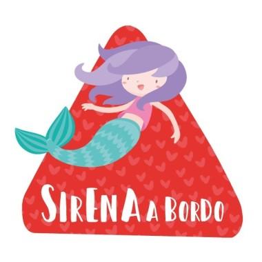 Sirena a bordo –  Bebé a bordo triángulo para coche