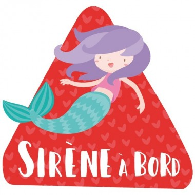 """Sirena a bord - Vinils per a cotxe Adhesius Nadó a bord  """"Sirena a bord"""". Triangles informatius de disseny, per enganxar a la part posterior dels vehicles. Adhesius de gran qualitat i fàcils de col·locar.  Mida del triangle: 16x15 cmMaterial: Vinil mat laminat vinilos infantiles y bebé Starstick"""