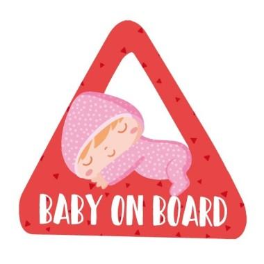 """Bebé a bordo. Diferentes colores a elegir – Adhesivo para coche Bebé a bordo """"Bebé a bordo"""". Triángulos informativos de diseño, para pegar en la parte posterior de los vehículos. Pegatinas de gran calidad y fáciles de colocar. Se puede elegir el color del pijama. Tamaño del triangulo: 16x15 cm Material: Vinilo mate laminado vinilos infantiles y bebé Starstick"""