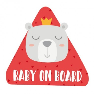 """Bébé à bord. Ours - Adhésif pour voiture Stickers bébé à bord Adhésif pour voiture """"Bébé à bord"""" Dimensions: 16x15 cm Matériau:Sticker autocollantpelliculage vinilos infantiles y bebé Starstick"""