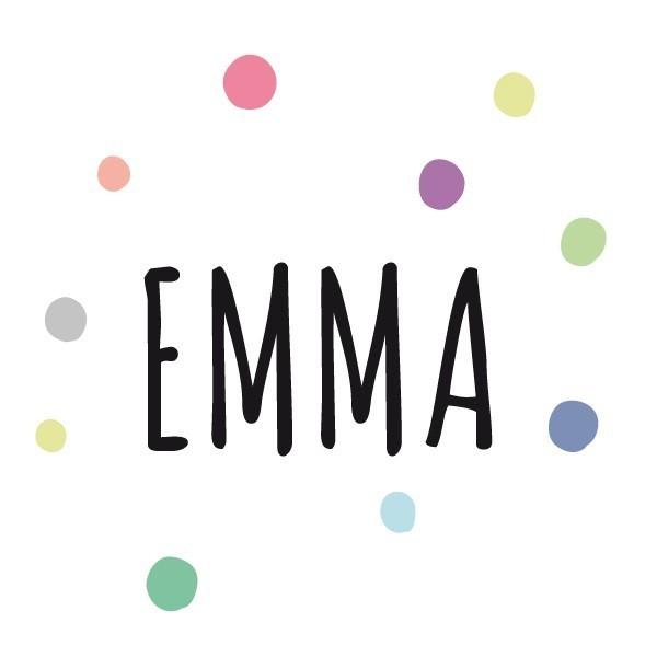 Nom avec confettis - Sticker nom de porte