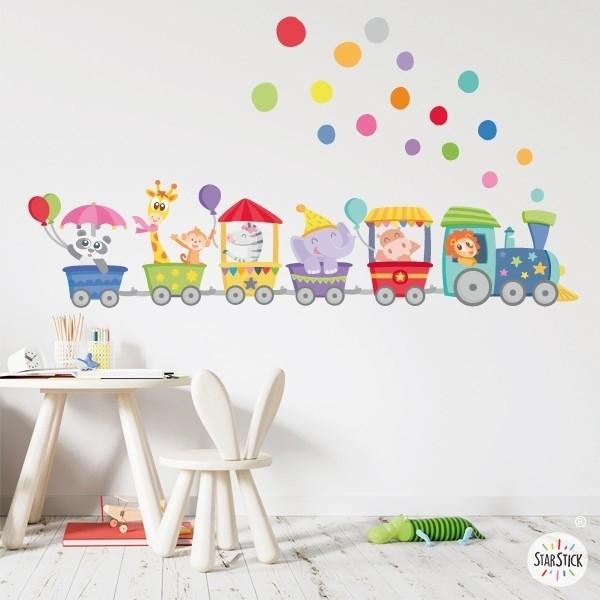Vinyl-baby-Zug mit tieren und konfetti - Vinyl für Kinder