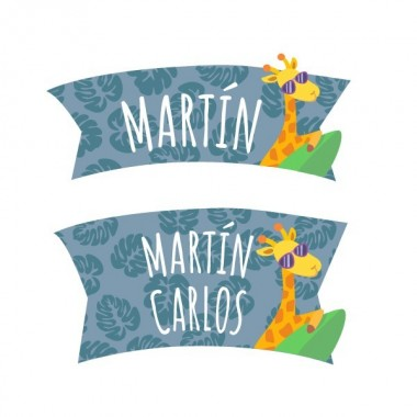 Van camping - Sticker nom de porte Stickers porte chambre Taillede la feuille/montage 1 prénom: 30x20 cm 2 prénoms:30x27 cm  vinilos infantiles y bebé Starstick