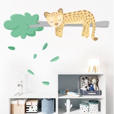 Vinils per nadó - Dolç guepard somiador - Decoració infantil