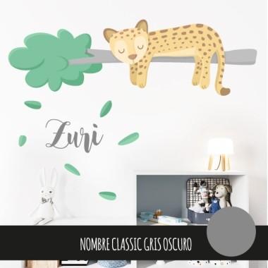 Vinilos para bebé – Dulce guepardo soñador – Decoración infantil