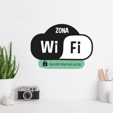 Zone wifi - Stickers décoratif